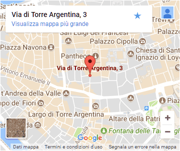 Pandalì - Rome - Map