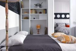 STEREO - Sofa Bed Opened - Side View - Divano Letto Aperto - Vista laterale