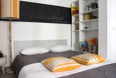 STEREO - Sofa Bed Opened - Angled view - Divano Letto Aperto - Vista d'angolo
